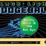 Black Light Dodgeball!! Tonight at 7pm!! Belk Gym!! Come Out #UNCC http://t.co/NKrXemmQ7M