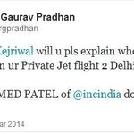 Arvind Kejriwal travelled with Mr Ahmed Patel in private flight ?? http://t.co/CBptKBd9PP