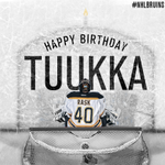 RT @NHLBruins: RT this to wish a Happy 27th Birthday to #NHLBruins goalie Tuukka Rask! http://t.co/KzUP4daK9F