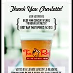 Thank You for voting for us #Charlotte @EpiCentreNC http://t.co/ZcDis3nsjS