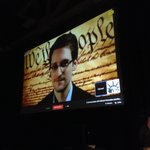 RT @ACLU: And here we go! Edward #Snowden has joined us at #SXSW via @Google Hangout (video's a little choppy). #SXSnowden http://t.co/6LnizTm3UB