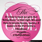 We support & join with @LeanInOrg @girlscouts on #BanBossy our little girls & teens need to embrace becoming a BOSS! http://t.co/hbLsh0UDxP
