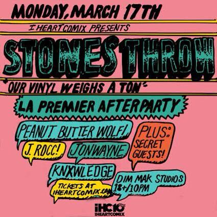 So who's partying with us and @stonesthrow? RETWEET to win tix! http://t.co/dzVjHQsqwA