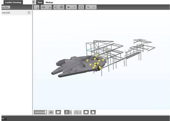 Maybe if #TeklaBIMsight was used, the Millennium Falcon's Hyperdrive malfunction might have been caught earlier #BIM http://t.co/iVW7Zu2OnY
