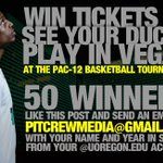 RT @OregonPitCrew: STUDENTS: Want free tix for @OregonMBB in Vegas? RT this and send an email to PitCrewMedia@gmail.com to win! #GoDucks http://t.co/LKsheZN8Ey