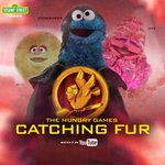 RT @sesamestreet: ICYMI: Cookie Monster takes to YouTube in The Hungry Games: Catching Fur! Watch: http://t.co/HvQwGwPDol http://t.co/sgBdGSrt00
