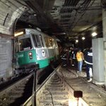 Pic of the Green Line D train derailment just outbound from Kenmore. Needless to say, expect delays (pic @BostonFire) http://t.co/LsHb25EKsV