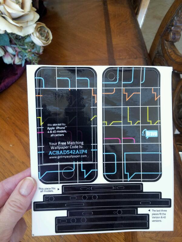 Who has iPhone 4 or 4S? Want this Bravo skin 4 it? RT as much as u can n I will pick the winner at 3pm CA time 2 day! http://t.co/txDOc8eSv1