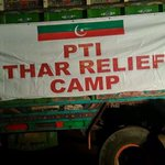 RT @KhurrumZamanPTI: Truck loaded with Relief items about to leave for THAR. http://t.co/2O96BPOC4T