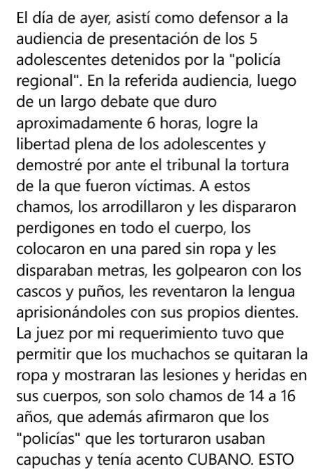 "Testimonio de Genis Navarro,abogado defensor de detenidos en Mérida: ""Policías torturadores son cubanos"". #Venezuela http://t.co/HWhpoKZgk5"