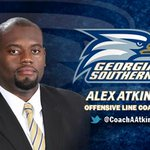 RT @GSAthletics: FB: @CoachWEFritz announces hiring of All-American Alex Atkins as O-Line Coach. @CoachAAtkins http://t.co/dyNh5LwM8i http://t.co/uFyZH4ExcF