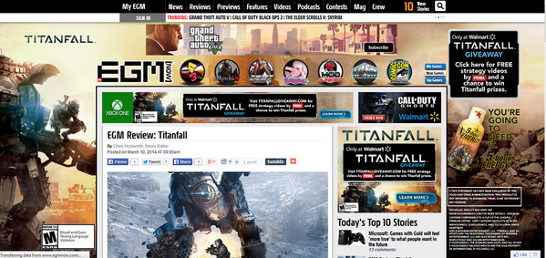 I wonder what will be the score of this game in this site. lol #Titanfall #GamesJournalism