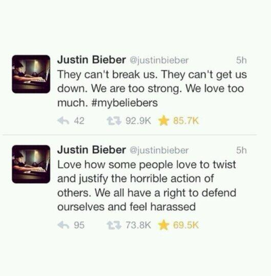 We who? It was your deposition. You cannot defend this or blame it on anyone but yourself @justinbieber smh