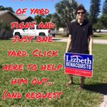 Yard signs are here! Email us at info@lizbethforcongress to request yours today. #FL19 #NickAndHisSigns http://t.co/nDvTKkS26s