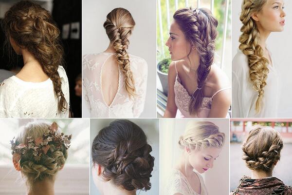 ¡Nos encantan las trenzas xa las novias! ¿Cómo os gustan más recogido o al modo tradicional? #buenosdías #peinados http://t.co/4hb2Lg1C5C