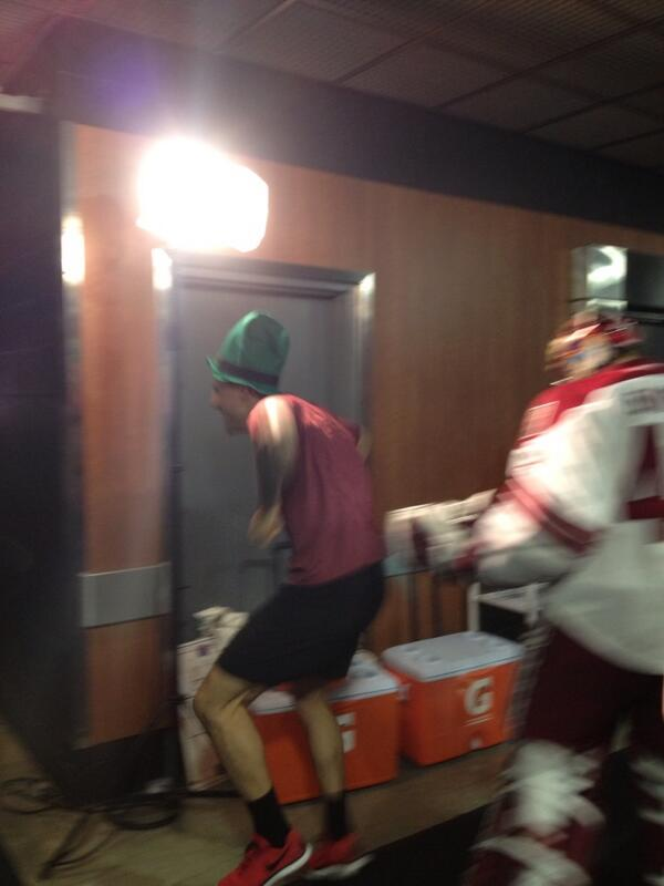 Tonight, the official #coyotes greeter was @BizNasty2point0.  Smiles all around.  Big win. http://t.co/suVABYZzaN