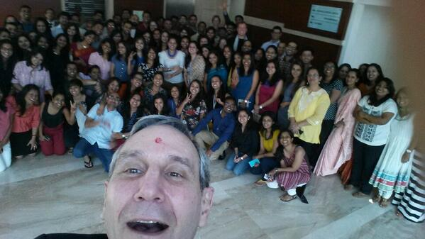 With the spectacular Mumbai team. Love the new office space replete with inspirational words, faux bricks. Keep it up http://t.co/wXh2p78wqy