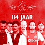 #Ajax is jarig! Het begon allemaal vandaag precies 114 jaar geleden... http://t.co/3vtrUkFiFT