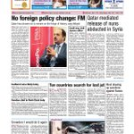Front page for March 11, 2014 http://t.co/MHcDDAZZ51 via @PeninsulaQatar #Qatar #Doha #News