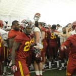 #Cyclones finish their first day of Spring practice. #Cyclones #SpringBall http://t.co/tZeKAWxRqV
