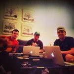 RT @chriscline: Writing a lil diddy on a Nashville Monday night with @SammyArriaga @ThomasArcher01 #music #work #goodlife #Nashville http://t.co/IbzadA18uR