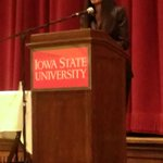 Judy Smith, the inspiration for Scandal giving a lecture at @IowaStateU! @kerrywashington @ScandalWriters @ScandalABC http://t.co/uAdkcFTEY6