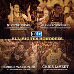 RT @bacari34: Congrats! Theyre also great teammates. #B1G http://t.co/lwoCTFjX8p