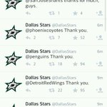 RT @GethinCoolbaugh: This is awesome. @NHL teams are Tweeting their well wishes to Rich Peverley & @DallasStars. Hockey is a brotherhood. http://t.co/IOu256X8WN