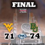 RT @WVUWBB: #WVU falls to Baylor 74-71 in the @Big12Conference Championship game. #HailWV #Big12WBB http://t.co/8qDZvh27om
