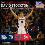 MBB | David Stockton ties a career-high 21pts for @ZagMBB in a lopsided 70-54 victory over Saint Marys! #ZAGBASE http://t.co/dDggxs4Vig