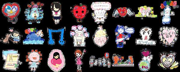 สติกเกอร์ไลน์ญี่ปุ่นชุดใหม่ March11 เป็นลายเส้นจากเด็กที่ประสบภัยปี2011 ซื้อแล้วจะเป็นการบริจาคให้พื้นที่Tohokuด้วยนะ http://t.co/3h1e2epkX8