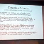RT @emerbeamer: Brilliant: Douglas Adams describes how different age groups react to new technology. http://t.co/snJgMeW6sO (MT @DigitalEthno)