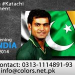 RT @ColorsEM: BIGGEST Screening in #KARACHI #CRICKETWAAR between #India and #Pakistan http://t.co/PptPzpN7TJ