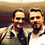 Finally found @rogerfederer after the doubles in the elevator #selfie #GoodDayAtTheOffice http://t.co/EWlcvcnmGA