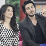 @realsanamjung & #AhsanKhan at #TheMorningShow on #AryNews. #Pakistan http://t.co/n3nCF7LYv3