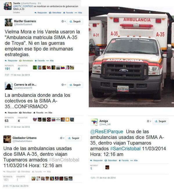 Traffic TACHIRA (@trafficTACHIRA): via @lincolandres: #11M  http://t.co/4jItW67QjT  @AMBULANCIA_SIMA_A-35 Es señalada x tuiteros como el transporte d los asesinos d Daniel Ti