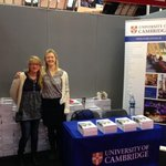 Manchester #UCAS fair today. Come & chat with Lauren & Lizzie (stand 32) about studying @Cambridge_Uni. @ucasevents http://t.co/t1xCVUzyKt