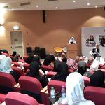 Today's panellists discussing Qatari women working in the energy sector #Qatar #Doha @QatarUniversity http://t.co/mhTL4Yrn5M