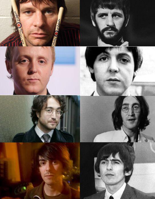 The Beatles and their sons. Can you see the family resemblance? http://t.co/MYSpqSOSVc
