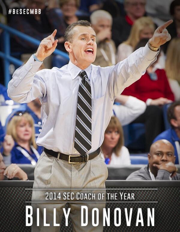 Florida's Billy Donovan named SEC Coach of the Year http://t.co/4PtlOGmPk4