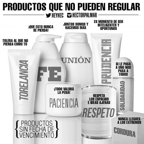 Estos son los productos que ningún GOBIERNO puede regular, queda de nuestra parte que NUNCA escaseen. http://t.co/COjnGoqb8O