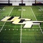 Logo painted in field house ready for @UCF_Football spring practice! #GoKnights #ChargeOn http://t.co/NLFNy8ztDb