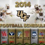 RT @UCF_Football: The 2014 UCF Football Schedule is Here!!! http://t.co/MTZKDcoEXd #ChargeOn http://t.co/dl85Qbdtpa