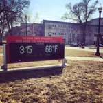 Spring break on campus today means it is sunny and 68 degrees! http://t.co/eHRXtMpaYC