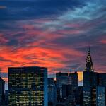 Some #NYC icons enjoying tonights lovely city sunset. http://t.co/YKnhSHFVvN