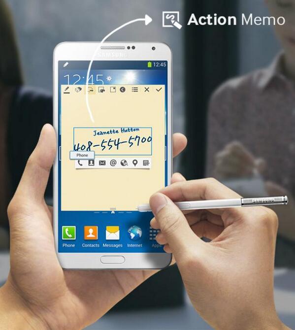 Anota cualquier número en tu #GALAXYNote3 con tu S Pen y conviértelo en datos con Action Memo. http://t.co/wTcOk6Qa0V
