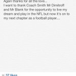 RT @krissybri: Thomas DeCouds thank you to the Falcons organization. #NFLFreeAgency http://t.co/NFQV3KzIZj