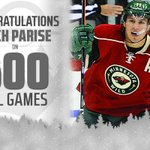 Congrats to #mnwild forward, Zach Parise, who is playing in his 600th @NHL game tonight. 2 points through 20 mins http://t.co/IXWtgUx1n3