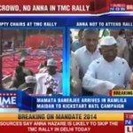 Social activist Anna Hazare fails to draw crowds at Ramlila Maidan in New Delhi #Mandate2014 http://t.co/7MRQgkH2GT
