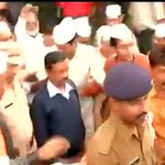 Arvind Kejriwal at Mumbai airport, is on the three day visit to the state of Maharashtra http://t.co/ScFcCkYUSR